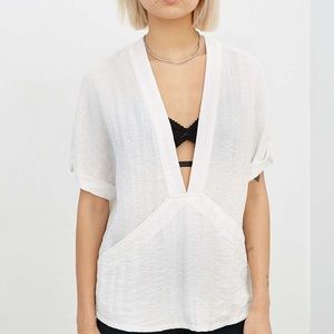 Urban Outfitters Silence + Noise Plunge Blouse